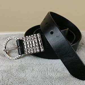 Harley-Davidson Leather Belt w/Rhinestones Sz L